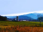 Fall Photographs Digital Art Prints - Vermont Farm Print by Bill Cannon