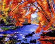 Vermont Wilderness Art - Vermont River by David Lloyd Glover