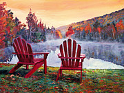 Fall Leaves Prints - Vermont Romance Print by David Lloyd Glover