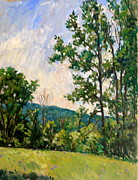 Abstract Realist Landscape Art - Vermont Spring Bennington by Thor Wickstrom
