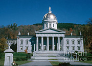 Capital Building Posters - Vermont State Capitol Poster by Photo Researchers