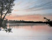 Colored Pencil Drawings - Vermont Sunset by Paul Petro