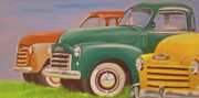 Antique Pick Ups Prints - Vermont Trucks Print by Charlene Cloutier