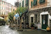 Italian Cafe Prints - Vernazza Cafe Print by Lynn Andrews