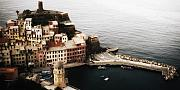 Cinque Terre Posters - Vernazza from above Poster by Andrew Soundarajan