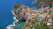 Cinque Terre Posters - Vernazza From Above Widescreen Poster by Scott Ingram Photography
