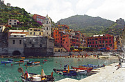 North Italian Town Framed Prints - Vernazza Italy Framed Print by Brandon Bourdages