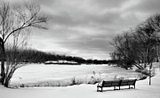 Verona Prints - Verona Park in Winter Print by Valerie Morrison