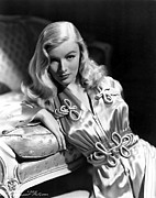 Nightgown Framed Prints - Veronica Lake Framed Print by Everett