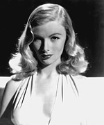 Bare Shoulder Metal Prints - Veronica Lake, Portrait, As Seen Metal Print by Everett