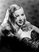 Strapless Dress Framed Prints - Veronica Lake Portrait, Featuring Framed Print by Everett