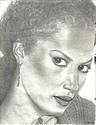 Flyers Drawings - Veronica Webb by Rick Hill