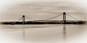 Hamilton Island Posters - Verrazano-Narrows Bridge B-W Poster by David Hahn