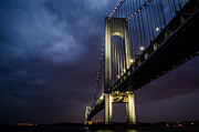 Nikon Framed Prints - Verrazano-Narrows Bridge Framed Print by Johnny Lam