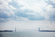 Staten Island Ferry Framed Prints - Verrazano Narrows Bridge Framed Print by Thomas Northcut