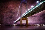 York Beach Digital Art Metal Prints - Verrazano-Narrows Bridge03 Metal Print by Svetlana Sewell