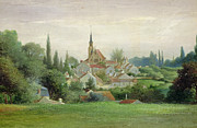 Village Scene Paintings - Verriere le Buisson by Eugene Bourrelier