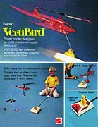 Toy Pyrography Posters - VertiBird Air Police Ad Poster by Paul Van Scott
