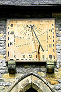 Peak District Posters - Vertical Sundial - Eyam Parish Church Poster by Rod Johnson