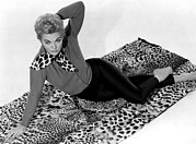 Leopard Print Framed Prints - Vertigo, Kim Novak, 1958 Framed Print by Everett