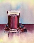 Blueberry Paintings - Very  Berry by Nan Wright