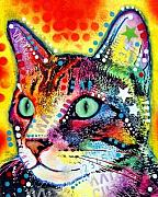 Dean Russo Art Art - Very Curious Cat by Dean Russo