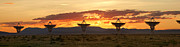 Future Tech Prints - Very Large Array at Sunset Print by Matt Tilghman