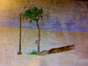 Asphalt Paintings - Very Lonely Tree by Nasir Iqbal Chaidhri