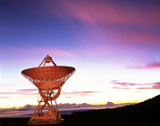 Hawai Prints - Very Long Baseline Array Radio Telescope, Hawaii Print by David Nunuk