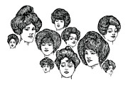 Lady Artwork Drawings Prints - Very Pretty Lady Faces Print by Karl Addison
