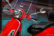 Venetian Blinds Prints - Vespa Print by Robert Lacy