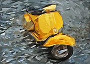 Scoot Framed Prints - Vespa Framed Print by Tilly Williams