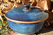 Clay Ceramics Metal Prints - Vessel with Lid No.2 Metal Print by Christine Belt