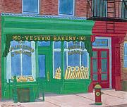 Italian Bakery Paintings - Vesuvio Bakery by David Hinchen