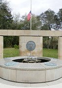 U S Flag Originals - Veterans Memorial Fountain by Warren Thompson