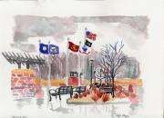 Iraq Paintings - Veterans Memorial Park by Rodger Ellingson