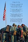Poem Acrylic Prints - Veterans Remember Acrylic Print by Carolyn Marshall