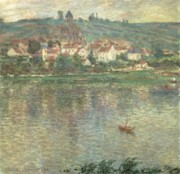 Reflection Paintings - Vetheuil by Claude Monet