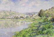 Reflecting Water Prints - Vetheuil Print by Claude Monet