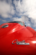 Red Chevrolet Prints - Vette Window Print by Peter Tellone