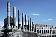 Internally Posters - Via Sacra Imposing Columns Colloseum Rome Poster by Tom Wurl