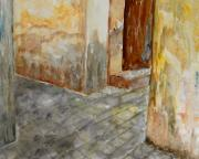 Streetscape Paintings - Via Vecchia by Josie Duff