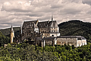 Grau Framed Prints - Vianden Castle - Luxembourg Framed Print by Juergen Weiss
