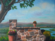 Winery Paintings - Viansa Wetlands Sonoma by Debbie Waitkus