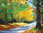 Fall Trees Posters - Vibrant Autumn Poster by Graham Gercken