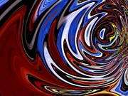 Sea Shore Digital Art - Vibrations An Abstract Contemporary Modern Digital Art by Annie Zeno