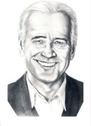Famous People Drawings - Vice President Joe Biden by Murphy Elliott