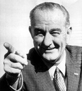 President Johnson Prints - Vice President Lyndon B. Johnson Print by Everett