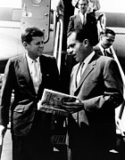 Air Travel Prints - Vice-president Richard Nixon Right Print by Everett
