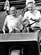 Cart Driving Posters - Vice President Spiro Agnew And Comedian Poster by Everett